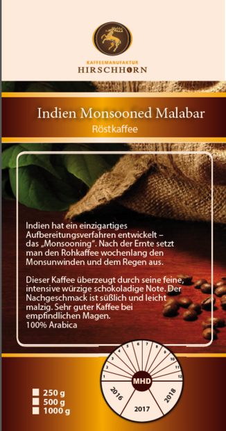 Indien Monsooned Malabar  250gr.