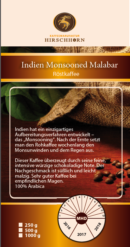 Indien Monsooned Malabar 1000gr.
